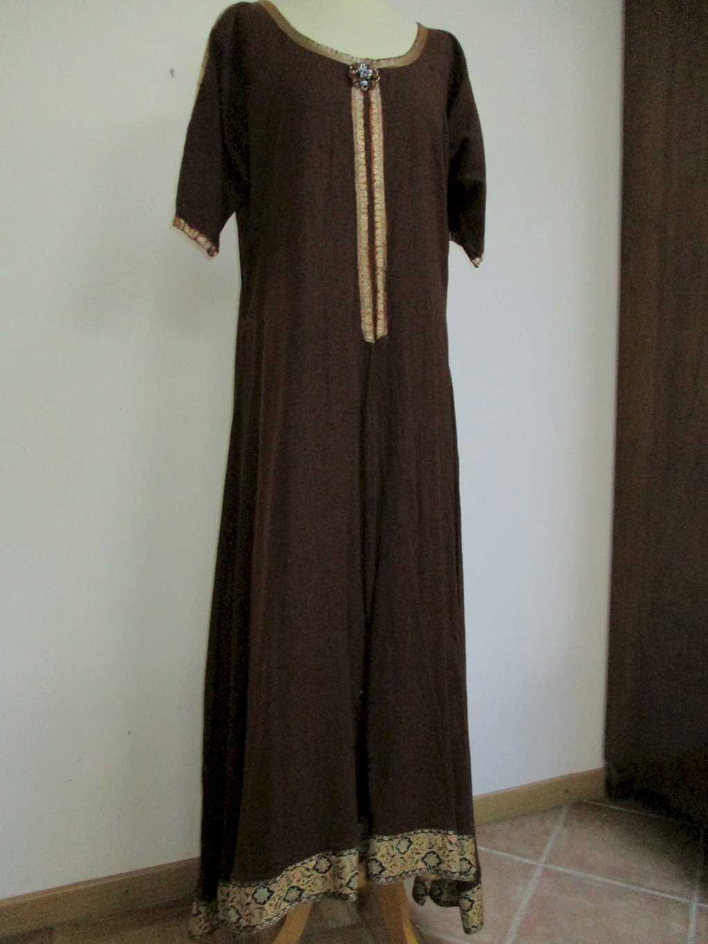 Robe en Lin Marron